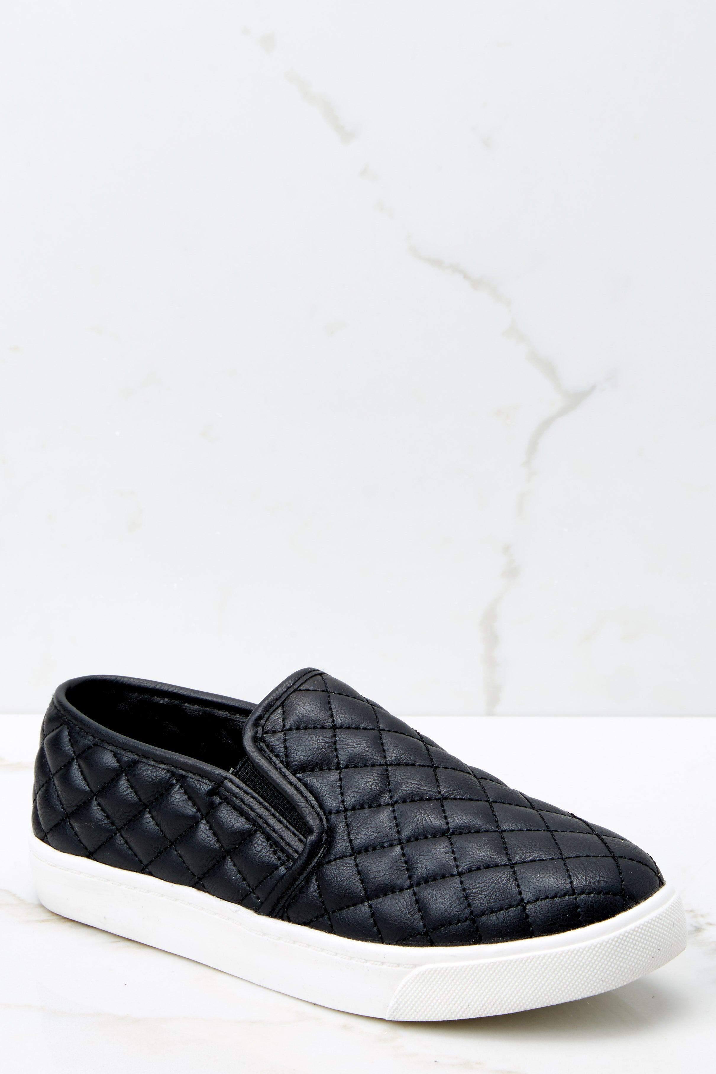 1 Passing Expectations Black Slip On Sneakers at reddressboutique.com