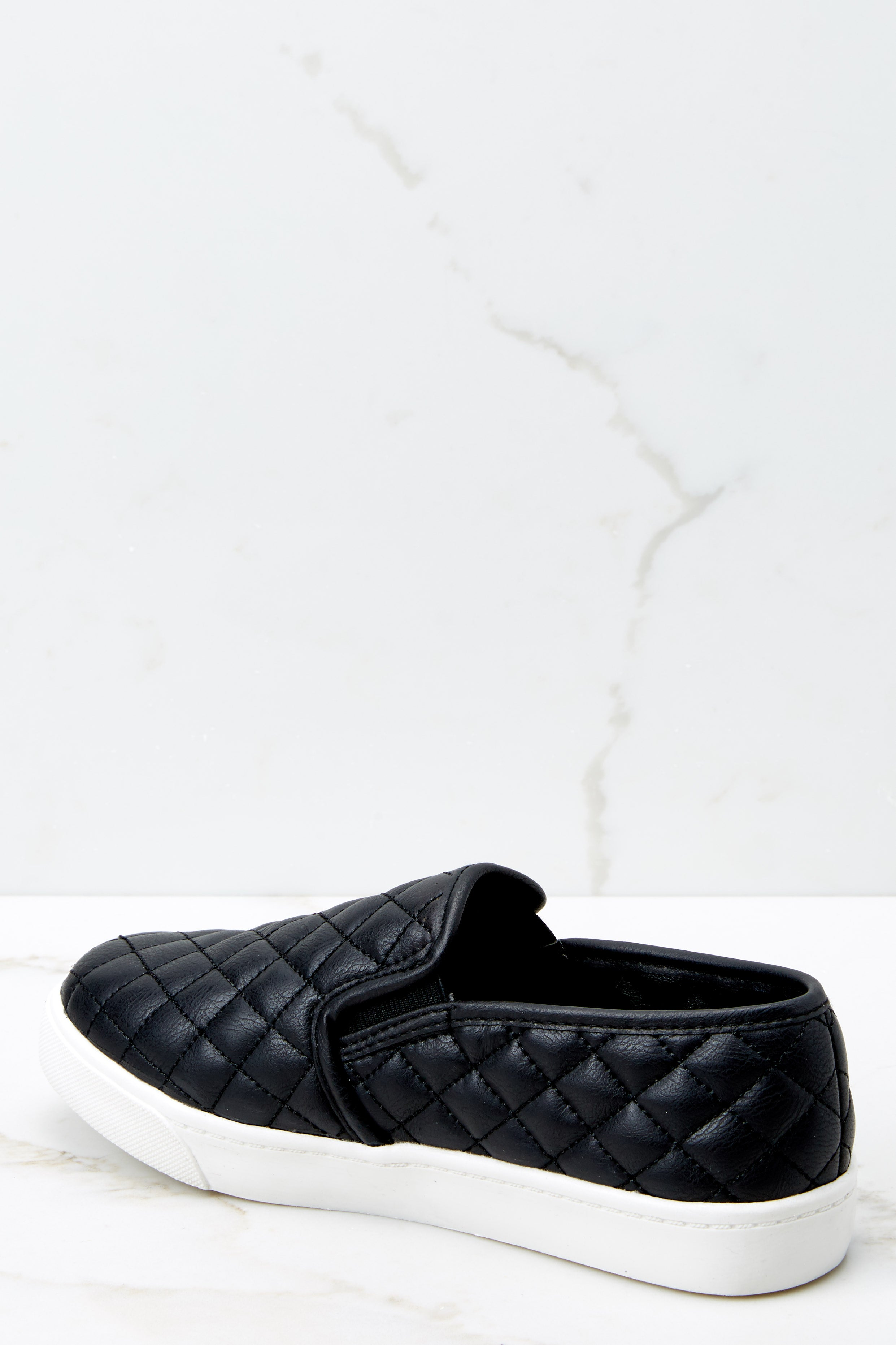 3 Passing Expectations Black Slip On Sneakers at reddressboutique.com