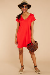 2 Flight Home Red Dress at reddressboutique.com