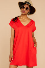 5 Flight Home Red Dress at reddressboutique.com