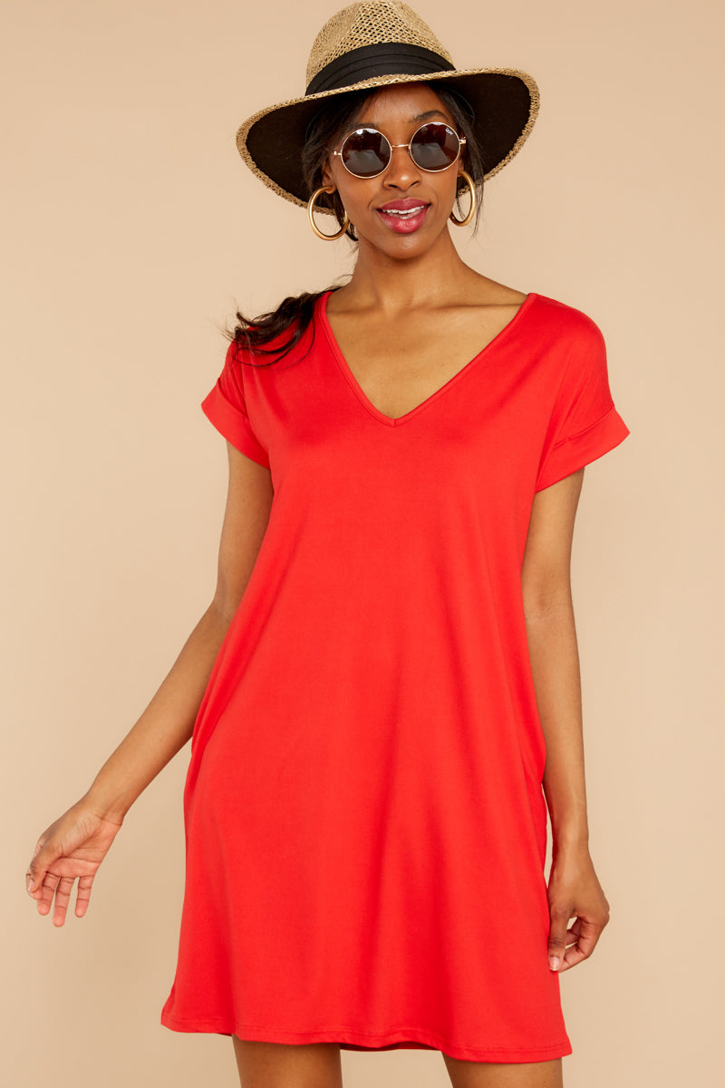6 Flight Home Red Dress at reddressboutique.com