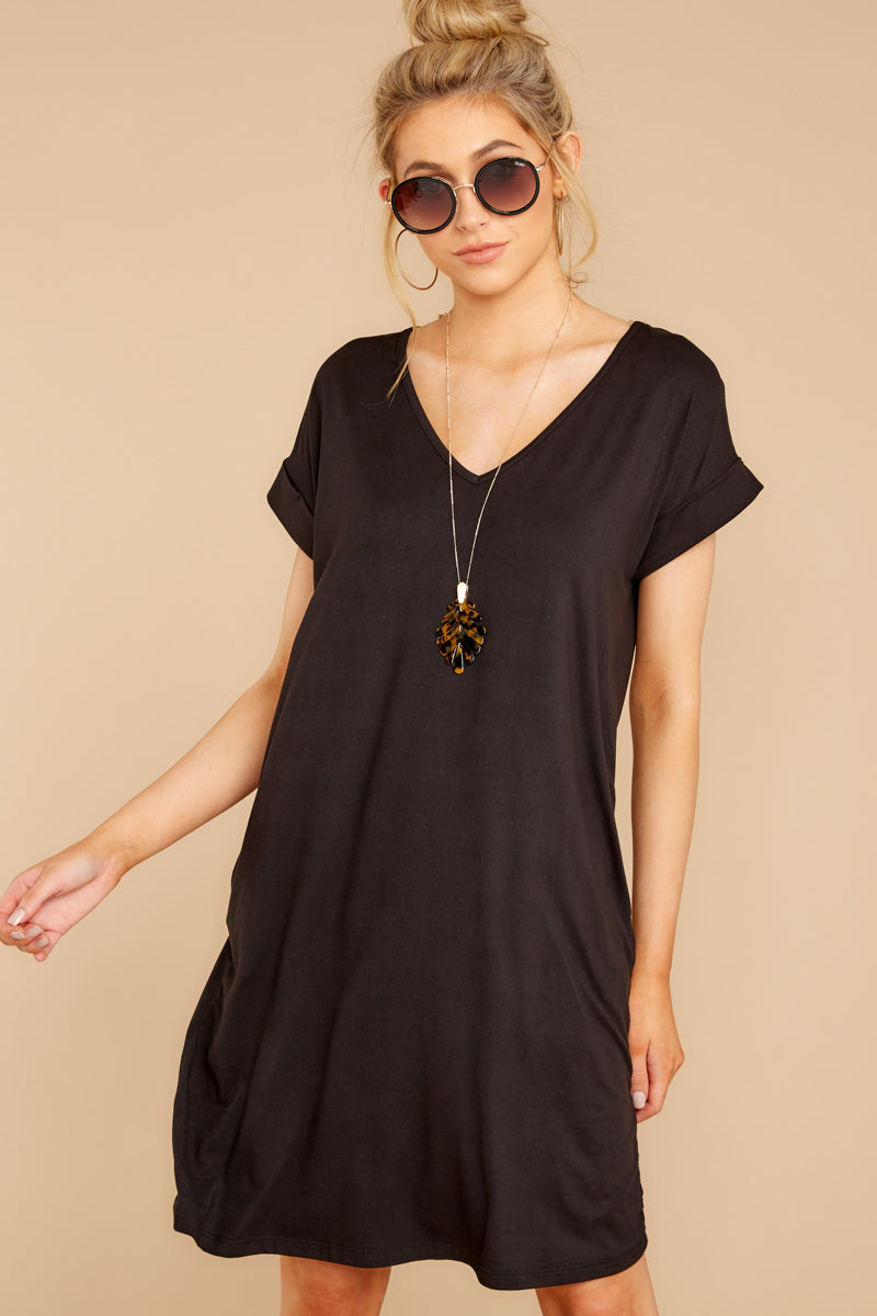 4 Flight Home Black Dress at reddressboutique.com