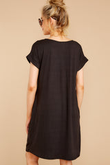 7 Flight Home Black Dress at reddressboutique.com
