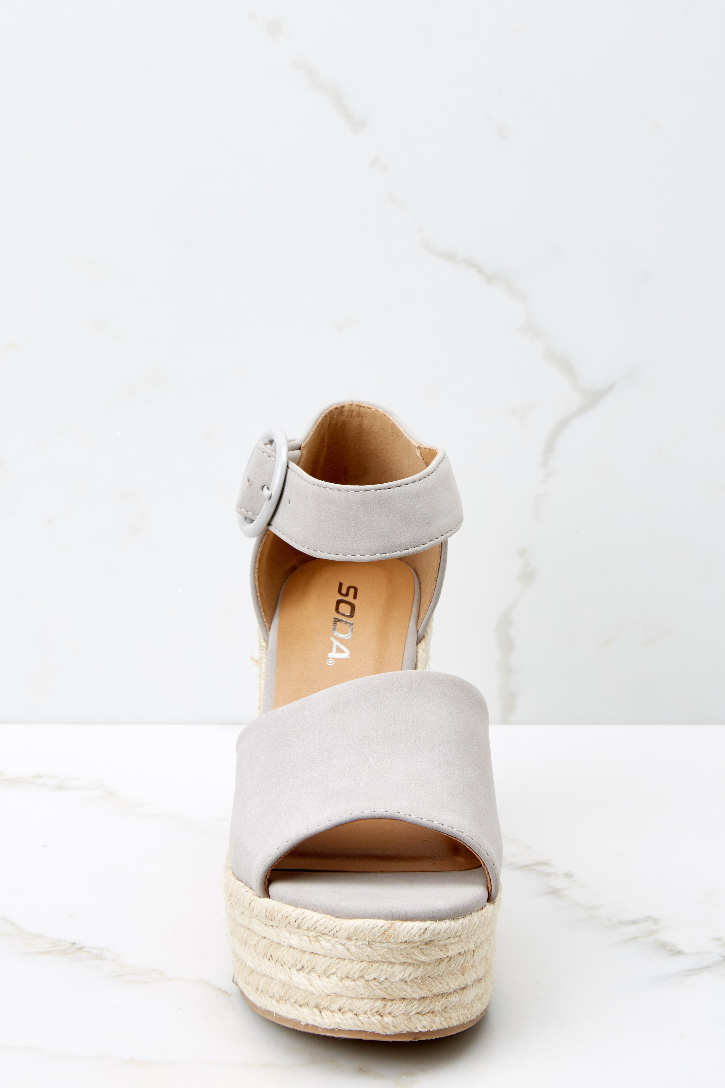 Dance Along Light Grey Platform Wedges