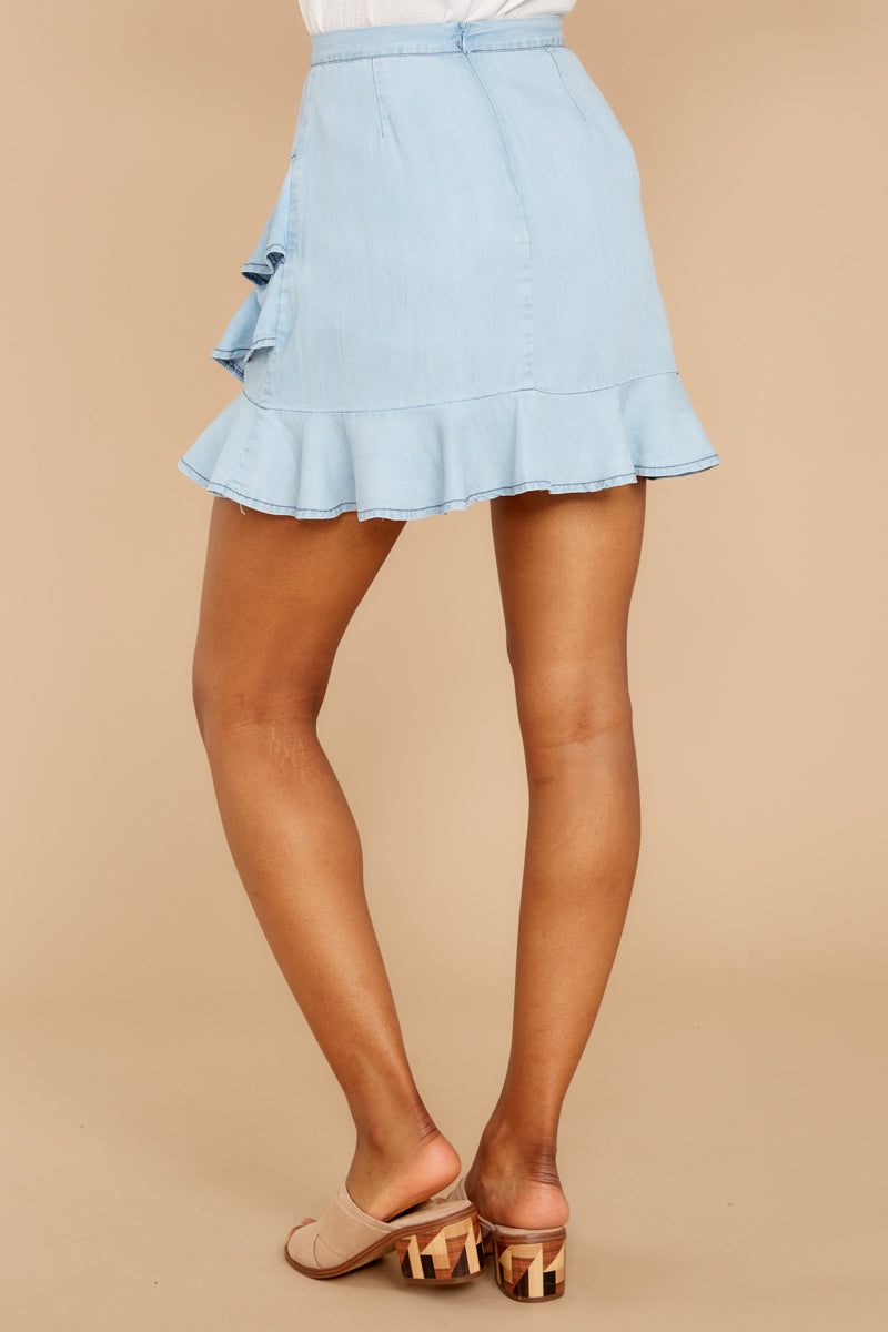 3 Comes In Waves Light Blue Skirt at reddressboutique.com