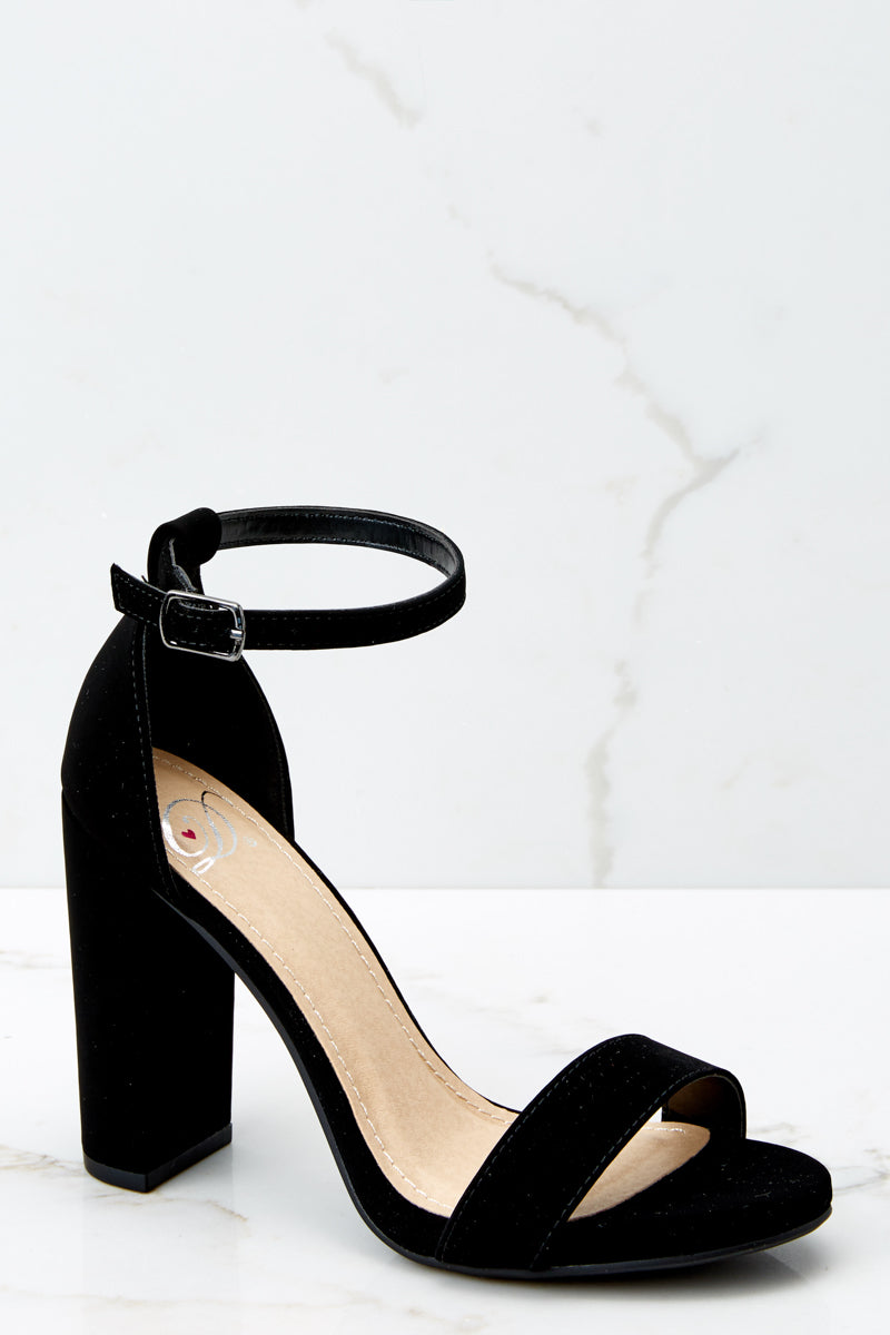 Never Grow Up Black Ankle Strap Heels