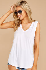4 Know Something White Tank Top at reddressboutique.com