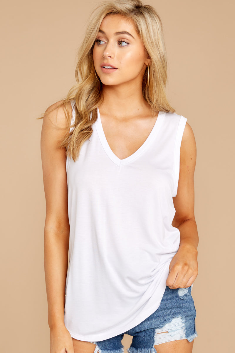 5 Know Something White Tank Top at reddressboutique.com