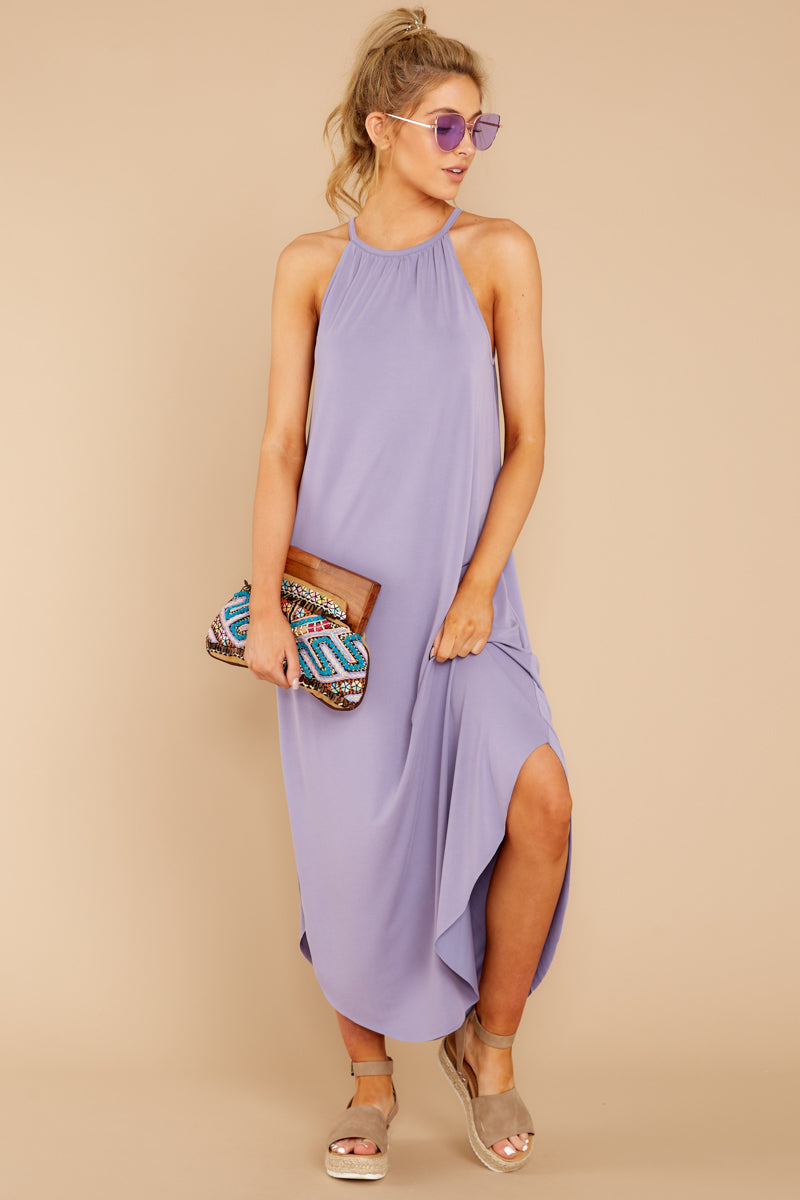 2 Close Your Eyes Lilac Maxi Dress at reddressboutique.com