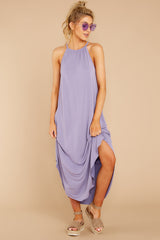 4 Close Your Eyes Lilac Maxi Dress at reddressboutique.com