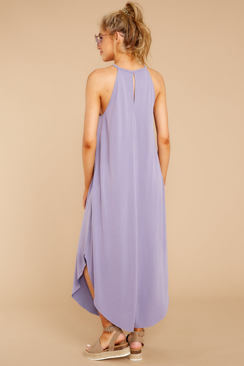 7 Close Your Eyes Lilac Maxi Dress at reddressboutique.com