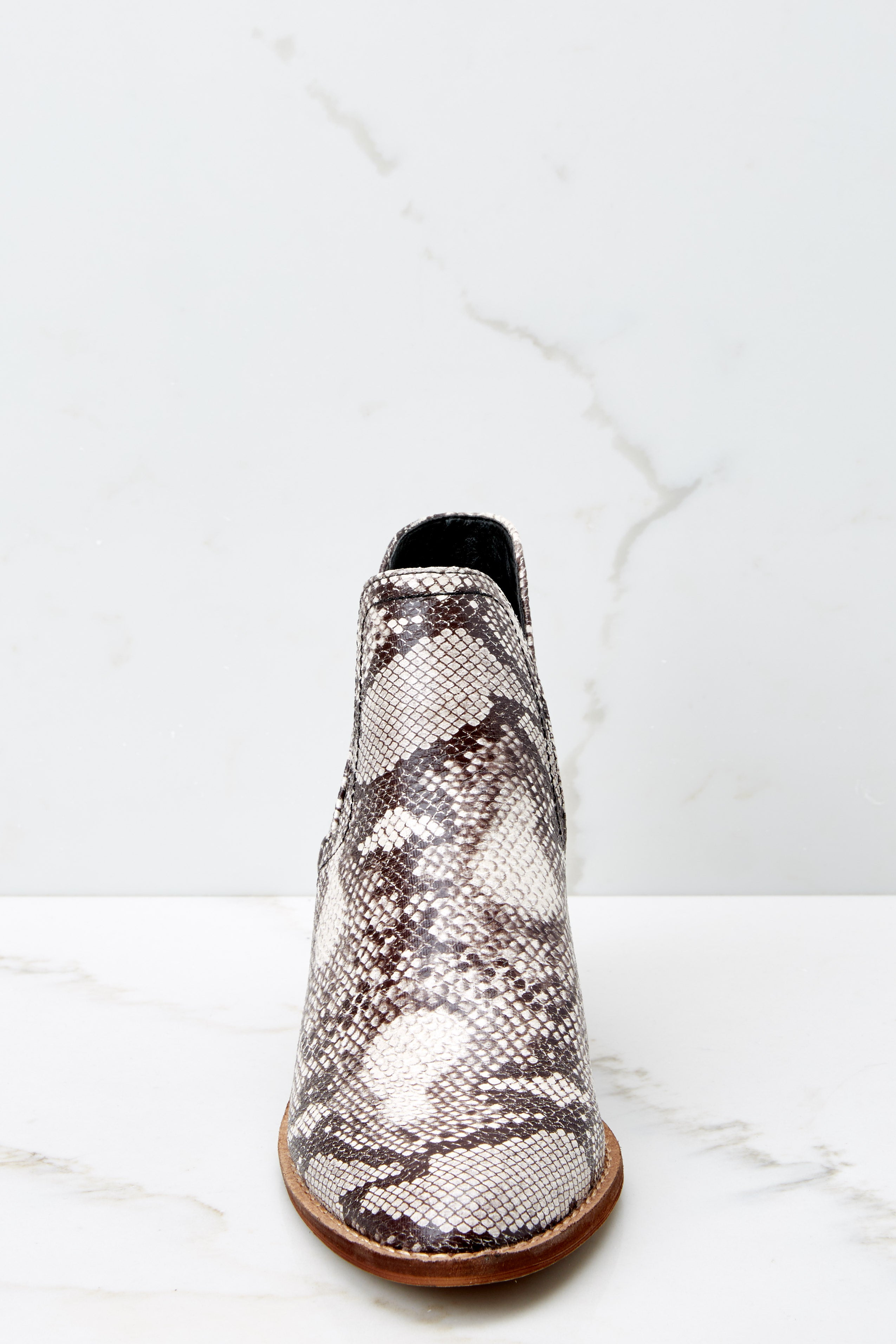 2 Breaking Wild Snake Print Ankle Boots at reddressboutique.com