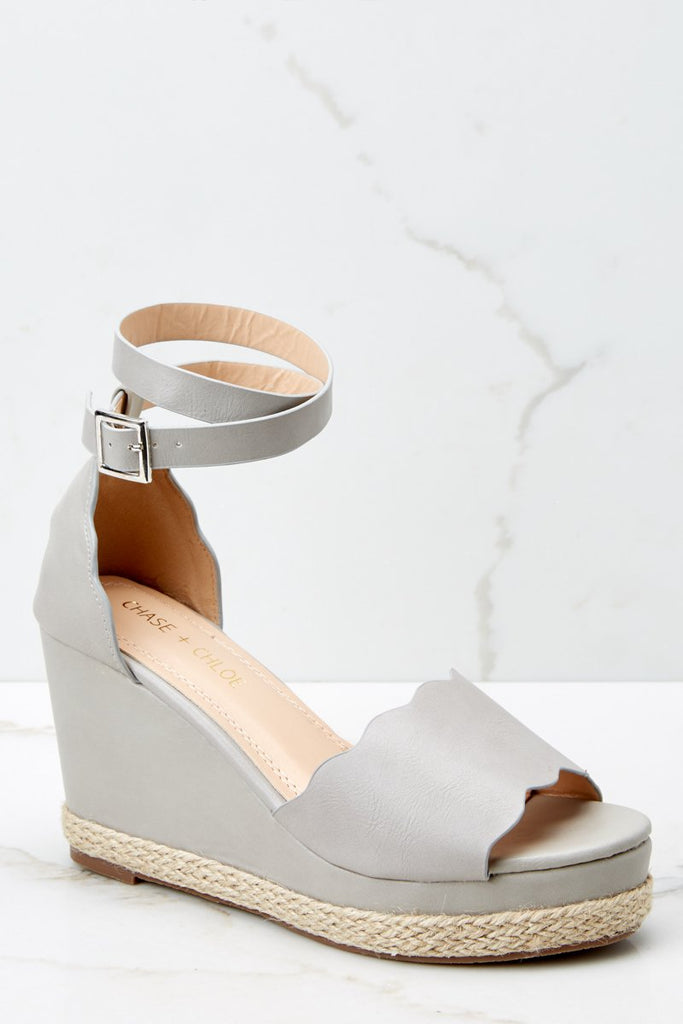 1 Dance Along Light Grey Platform Wedges at reddress.com