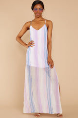 2 My Favorite Thought Lavender Multi Maxi Dress at reddressboutique.com