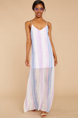 3 My Favorite Thought Lavender Multi Maxi Dress at reddressboutique.com
