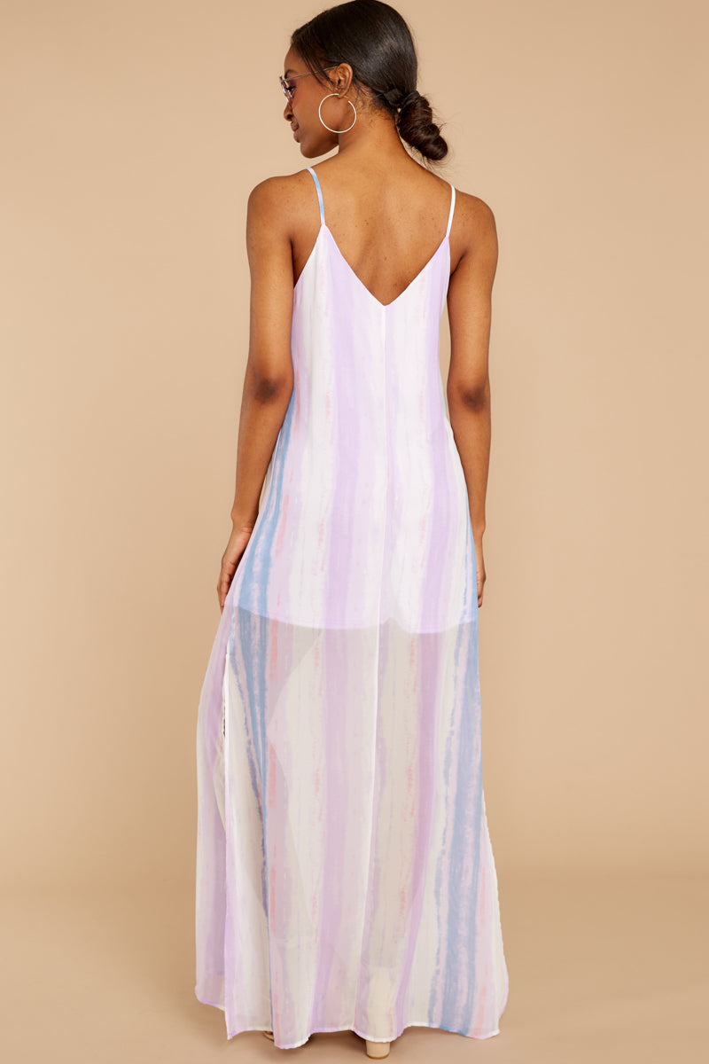 5 My Favorite Thought Lavender Multi Maxi Dress at reddressboutique.com