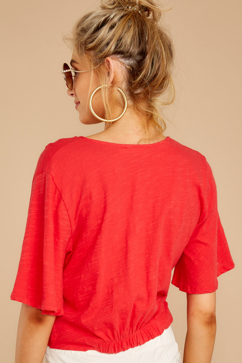 Cries For Peace Red Twist Top