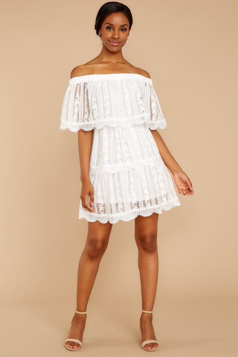 2 Single For Now White Lace Dress at reddressboutique.com