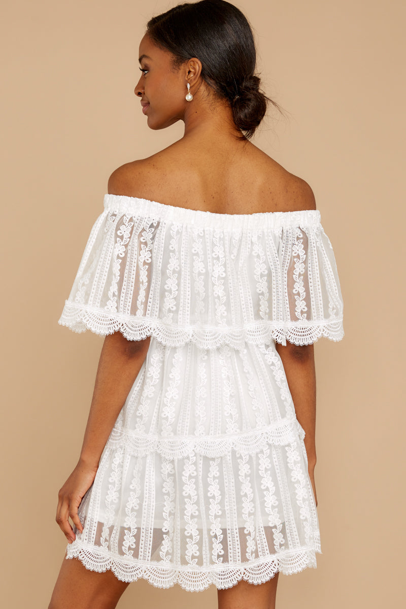 7 Single For Now White Lace Dress at reddressboutique.com