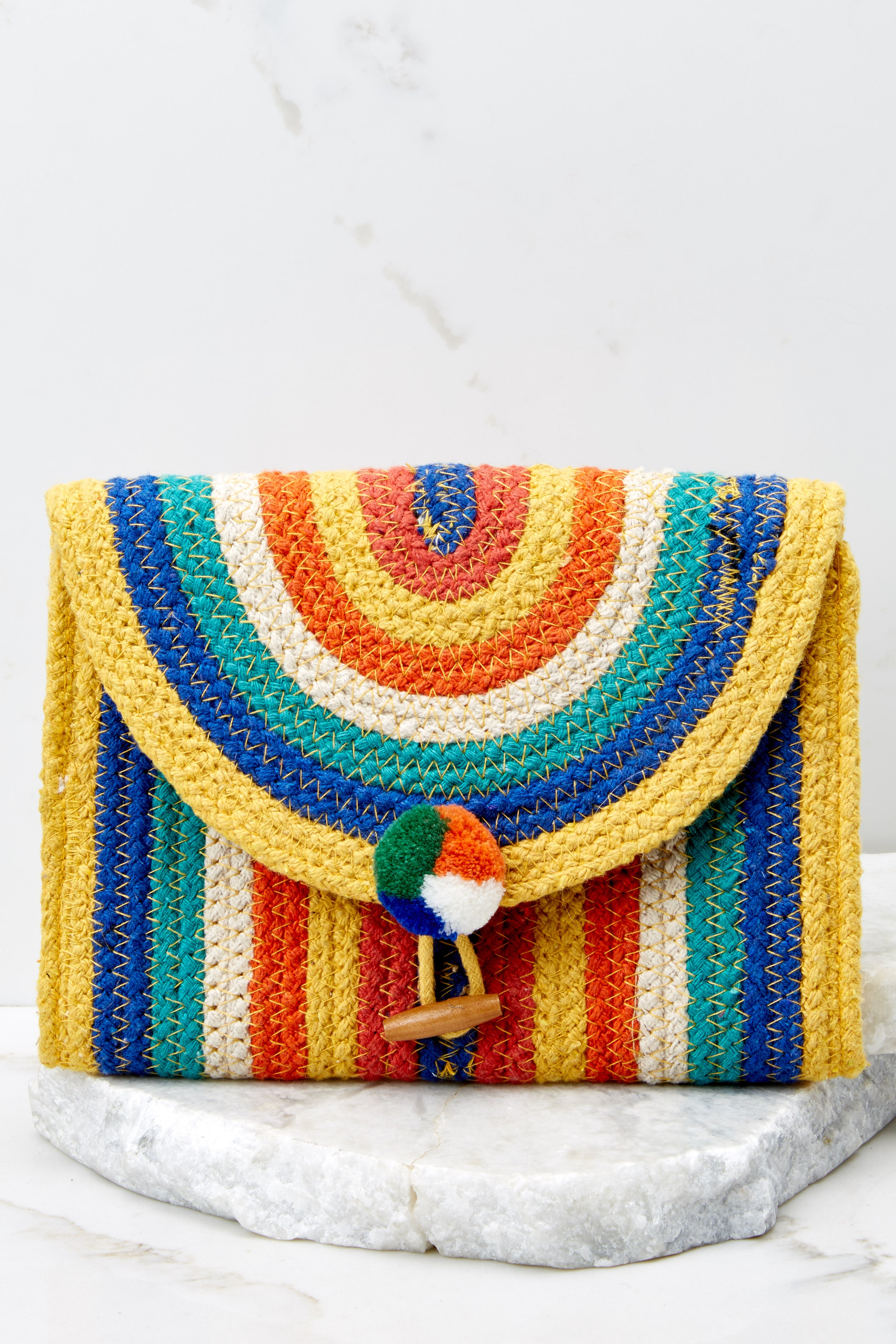 2 Still Feel It Rainbow Clutch at reddressboutique.com