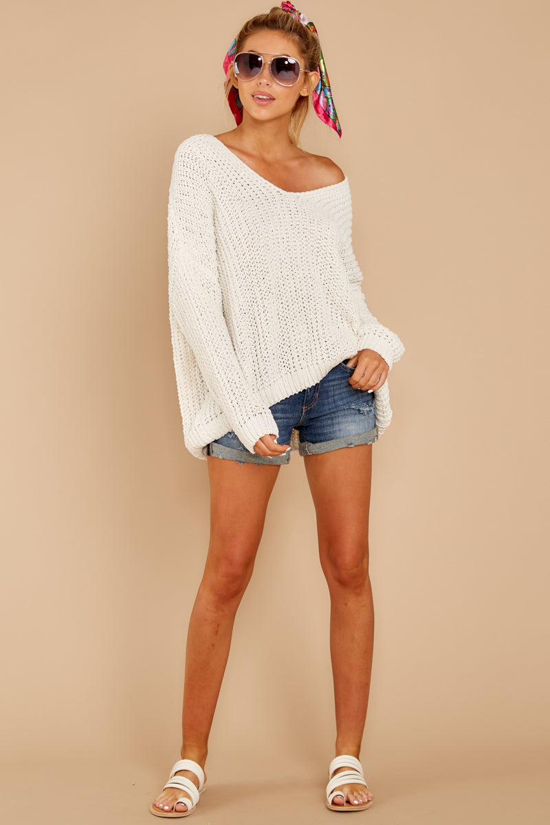 1 Good Together Ivory Sweater at reddressboutique.com