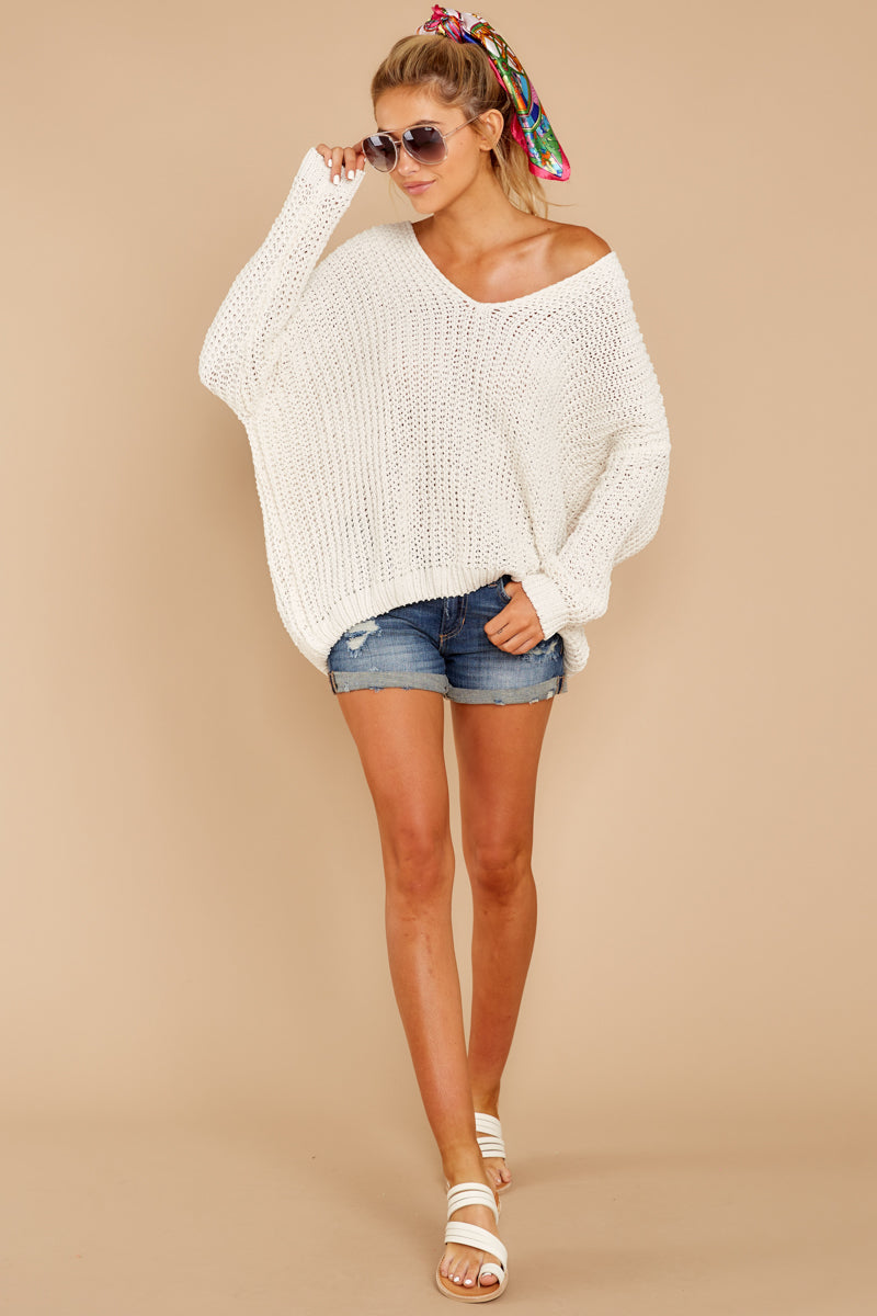 2 Good Together Ivory Sweater at reddressboutique.com