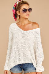 6 Good Together Ivory Sweater at reddressboutique.com
