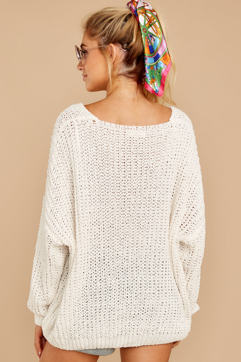 7 Good Together Ivory Sweater at reddressboutique.com