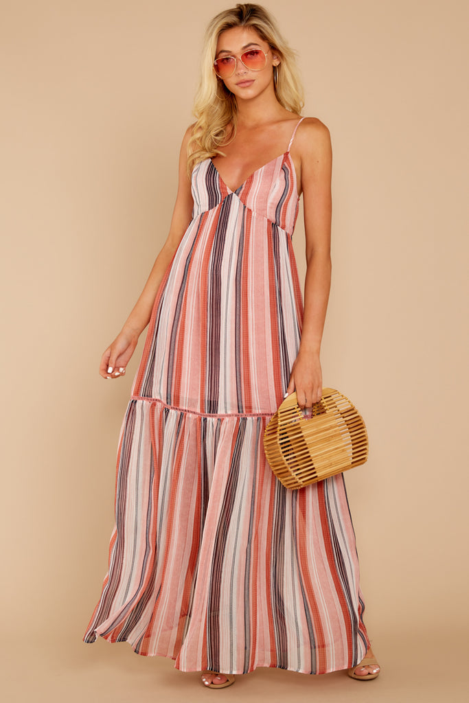1 Sounds About Right Pink Floral Maxi Dress at reddressboutique.com