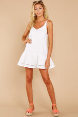 1 Making Changes White Dress at reddressboutique.com