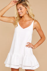 3 Making Changes White Dress at reddressboutique.com