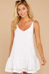 5 Making Changes White Dress at reddressboutique.com