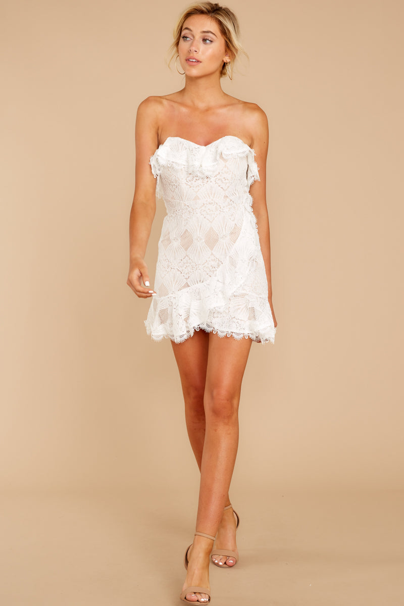 3 My Delicate Soul White Lace Dress at reddressboutique.com
