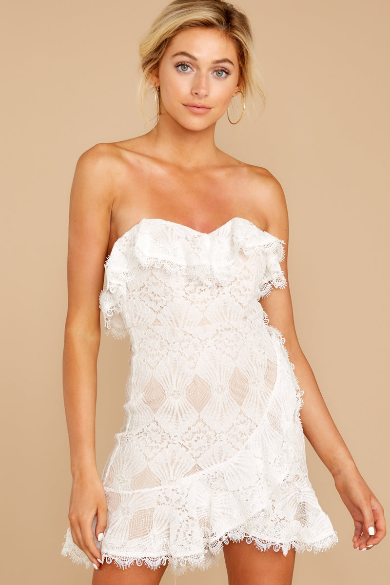 7 My Delicate Soul White Lace Dress at reddressboutique.com