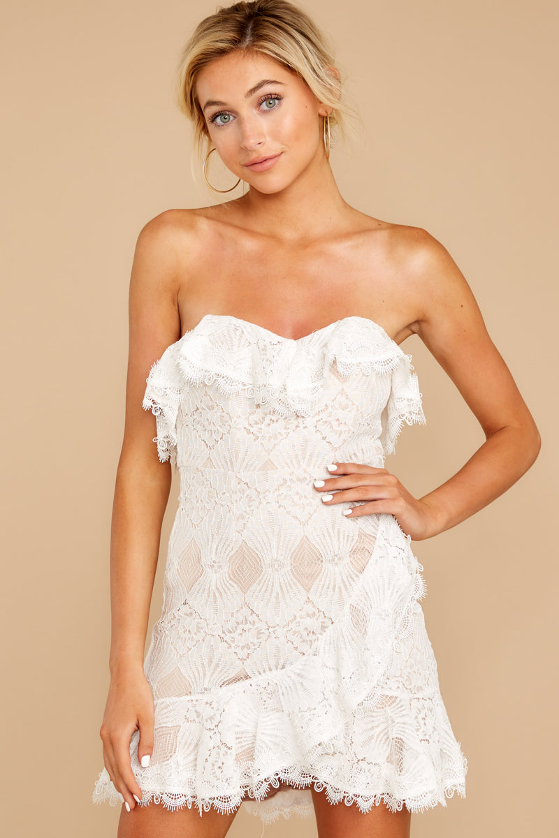 1 My Delicate Soul White Lace Dress at reddressboutique.com
