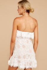 8 My Delicate Soul White Lace Dress at reddressboutique.com