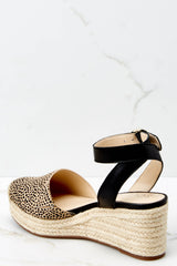 Channing Espadrille Wedge In Dotted Haircalf