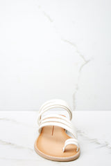2 Nelly Sandals In Off White at reddressboutique.com