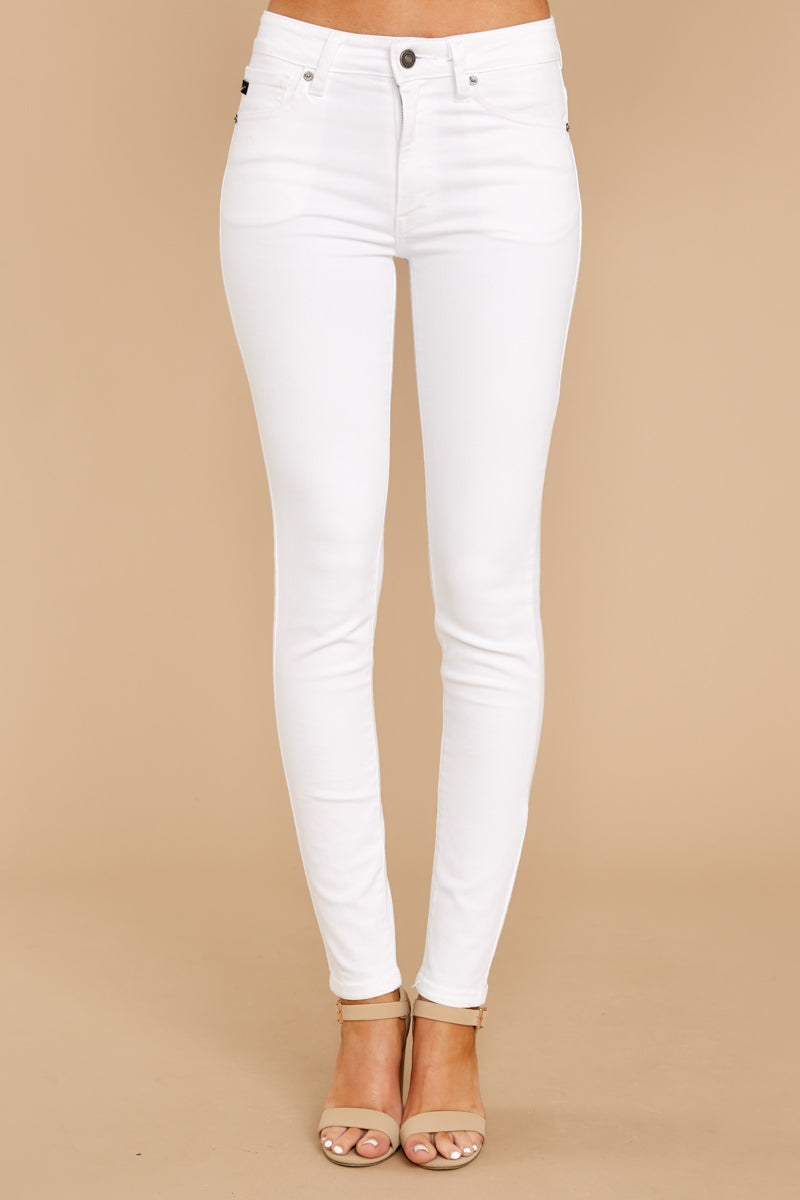 2 Self Sufficient White Skinny Jeans at reddressboutique.com
