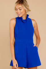 3 Stop For Nothing Royal Blue Romper at reddressboutique.com