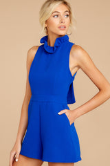 4 Stop For Nothing Royal Blue Romper at reddressboutique.com