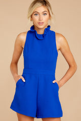 5 Stop For Nothing Royal Blue Romper at reddressboutique.com