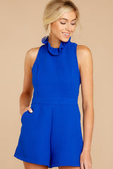 6 Stop For Nothing Royal Blue Romper at reddressboutique.com
