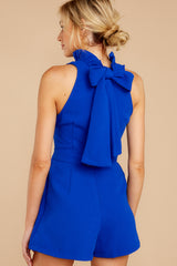 7 Stop For Nothing Royal Blue Romper at reddressboutique.com