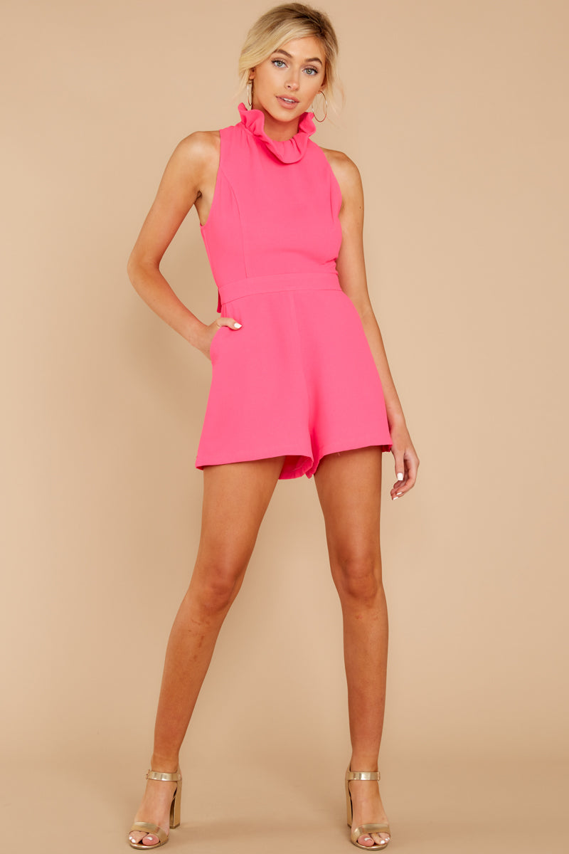 2 Stop For Nothing Neon Pink Romper at reddress.com