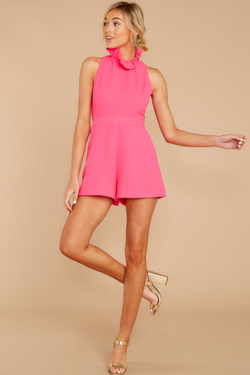 1 Stop For Nothing Neon Pink Romper at reddress.com