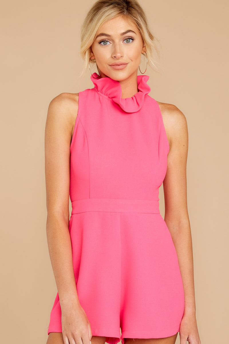 4 Stop For Nothing Neon Pink Romper at reddress.com