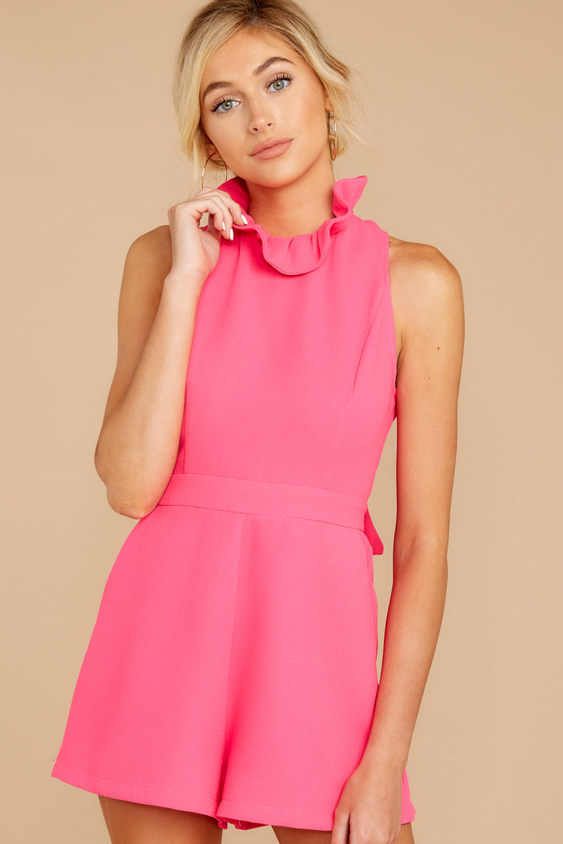 5 Stop For Nothing Neon Pink Romper at reddress.com
