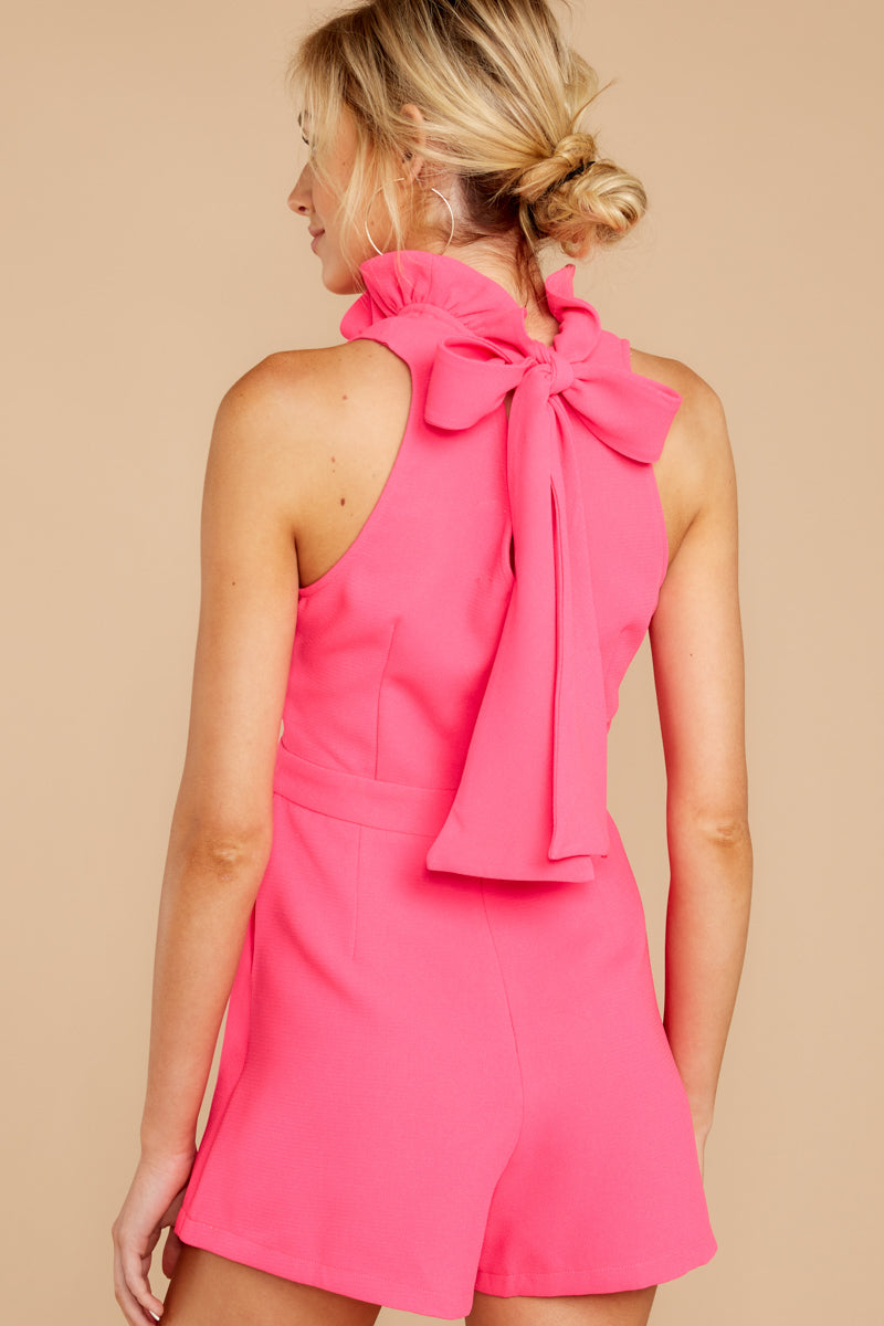 7 Stop For Nothing Neon Pink Romper at reddress.com