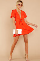 V-neck Plunging Neck Hidden Side Zipper Wrap Darts Fall Full-Skirt Dress